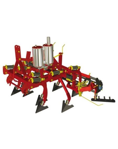 Cultivador e chassis com intercepas