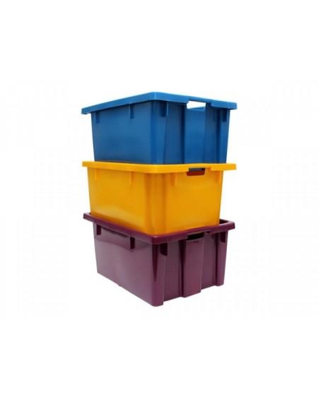 Caixas plásticas empilháveis para uvas ou fruta