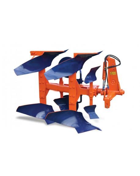 Charrua de 2 ferros com reversão automática, manual ou hidráulica