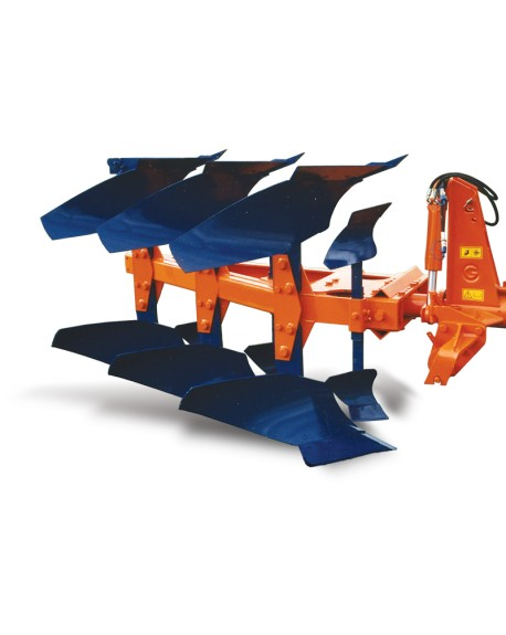 Mini furrow ploughs, hydraulic reversion body at 180º