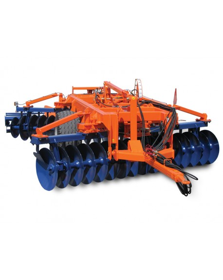 Heavy, towed, offset disc harrow