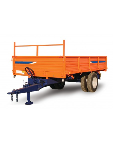 Metallic agricultural trailer