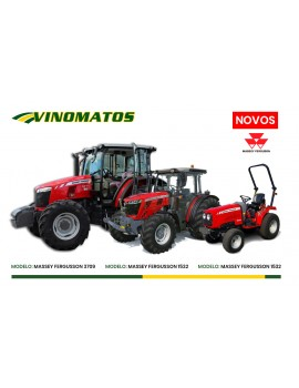 New Massey Ferguson tractors at the Vinomatos Showroom