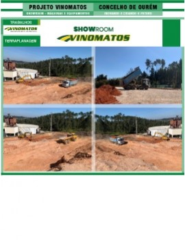 Start of earthworks at the location of the new Vinomatos store in Ourém